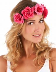 Couronne de fleurs roses femme