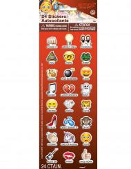 24 Stickers autocollants Emoji™ 2 cm