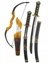Kit accessoires armes et arc ninja enfant