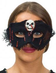 Loup tissu avec crâne femme Halloween