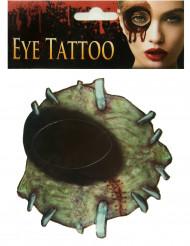 Tatouage pour œil zombie adulte Halloween