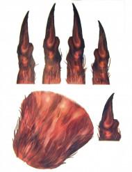 Tatouages pour main loup garou adulte Halloween