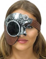 Demi masque argent femme Steampunk