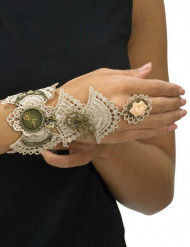 Bracelet dentellé femme Steampunk