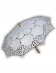 Ombrelle en dentelle blanche luxe