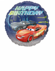 Ballon aluminium Happy Birthday Cars 3™ 43 cm