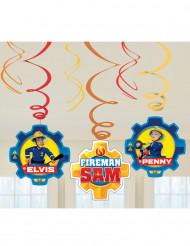 6 Suspensions spirales Sam le Pompier ™