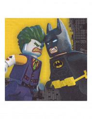 20 serviettes en papier Lego Batman™ 33 x 33 cm