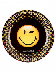 8 Assiettes en carton 23 cm Smiley Emoticons™