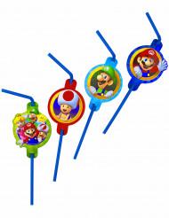 8 Pailles en plastique Super Mario™