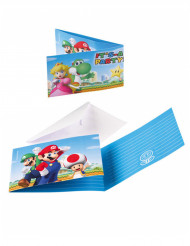 8 Invitations & enveloppes Super Mario ™
