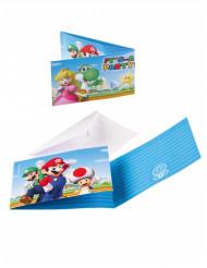 8 Invitations & enveloppes Super Mario ™