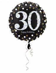 Ballon Aluminium Happy Birthday scintillant 30 - 45 cm