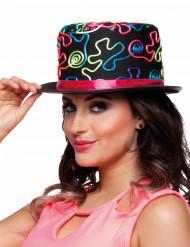 Chapeau haut de forme coloré adulte