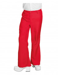 Pantalon disco rouge homme