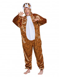 Déguisement tigre en peluche adolescent