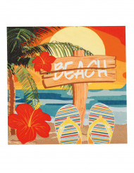 12 Serviettes en papier Beach party 33 X 33 cm