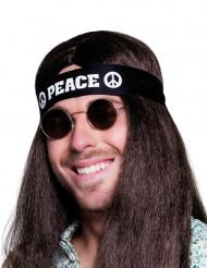 Bandeau noir Peace adulte