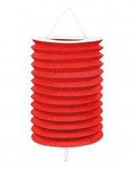 12 Lampions rouges en papier 20 cm