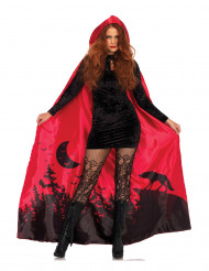 Cape luxe rouge femme