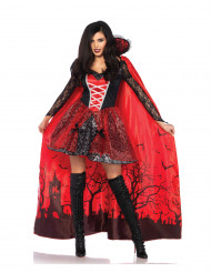Déguisement vampire tentatrice avec cape détachable femme