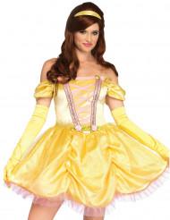 Déguisement princesse enchantée jaune femme