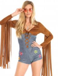 Déguisement miss hippie sexy femme