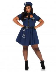 Déguisement policière bleu femme
