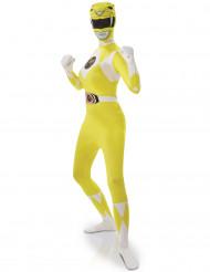 Déguisement seconde peau Power Rangers™ jaune femme