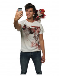 T-shirt selfie clown effayant adulte