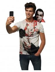T-shirt Selfie dracula adulte halloween