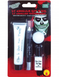Kit de maquillage phosphorescent adulte