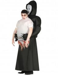 Déguisement tronc humain porté par faucheuse adulte Halloween