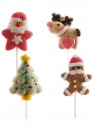 4 Brochettes de marshmallow Noël