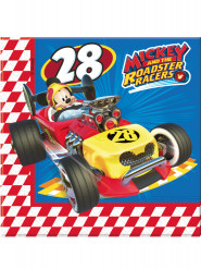 20 Serviettes en papier 33x33cm Mickey & Donald Racing ™