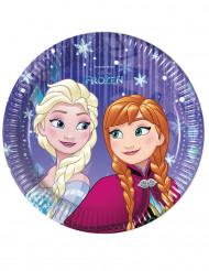8 Petites assiettes en carton 20cm La Reine des Neiges Frozen ™