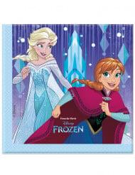 20 Serviettes en papier La Reine des Neiges Frozen™ 33 x 33 cm