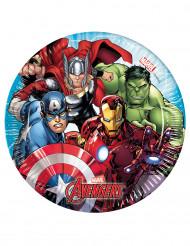 8 Petites assiettes en carton Avengers Mighty ™ 20 cm