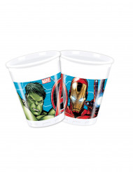8 Gobelets en plastique 200 ml Avengers Mighty ™