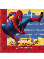 20 Serviettes en papier 33x33cm Spiderman Homecoming ™
