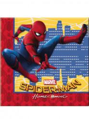 20 Serviettes en papier 33x33cm Spiderman Homecoming ™