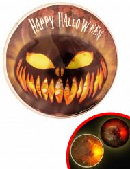 Badge lumineux LED 9 cm Halloween