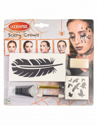 Kit maquillage corbeau femme Halloween