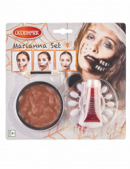 Kit maquillage bouche zombie adulte Halloween