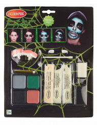 Kit maquillage squelette réaliste phosphorescent adulte Halloween