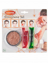 Kit maquillage gangrène adulte Halloween