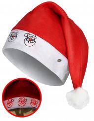 Chapeau père noël lumineux adulte Noël