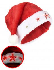 Chapeau joli flocon lumineux adulte Noël