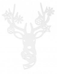 Décoration pour fenêtre renne Noël 35 cm