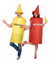 Déguisement de couple tubes moutarde et ketchup